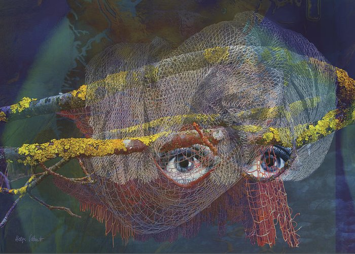 Fantasy Greeting Card featuring the digital art Blowfish by Helga Schmitt