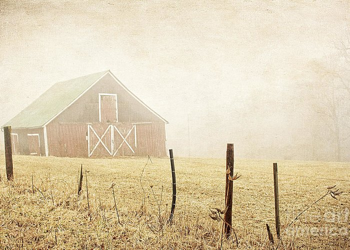 Abandoned Greeting Card featuring the photograph Blue Ridge Farm by Darren Fisher