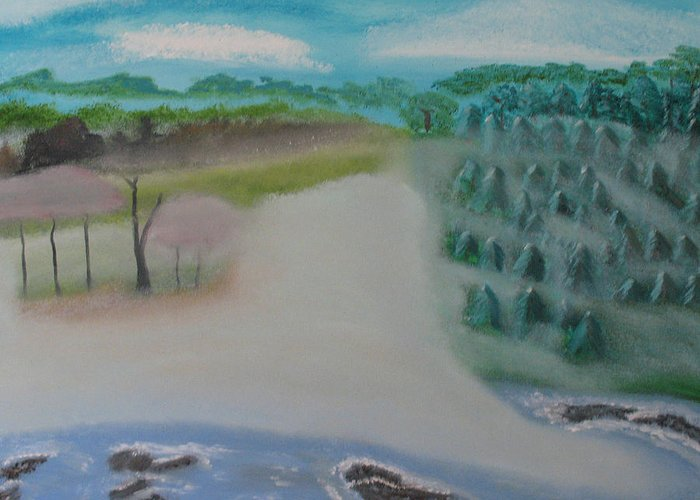 Blue Ridge Mountains Greeting Card featuring the painting Blue Ridge Mountains by Edwin Long