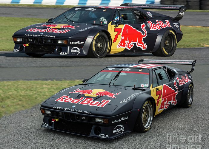 Bmw M1 For Sale >> Bmw M1 Procar Red Bull Greeting Card For Sale By Tad Gage