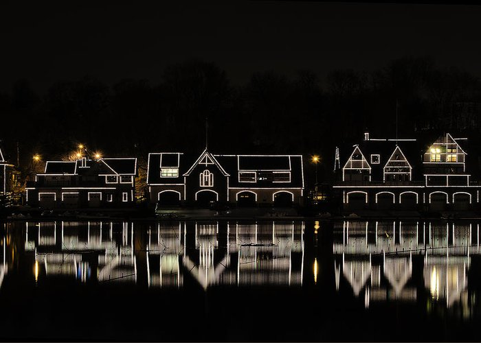 boathouse Row Greeting Card featuring the photograph Boathouse Row - Philadelphia by Brendan Reals