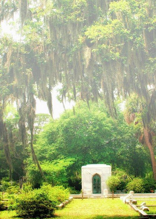Savannah Greeting Card featuring the photograph Bonaventure Cemetery Savannah Ga by William Dey