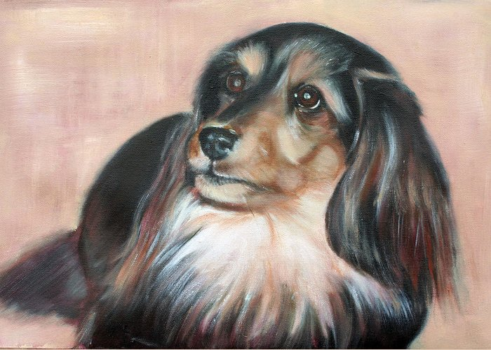 Greeting Card featuring the painting Bonnie by Fiona Jack