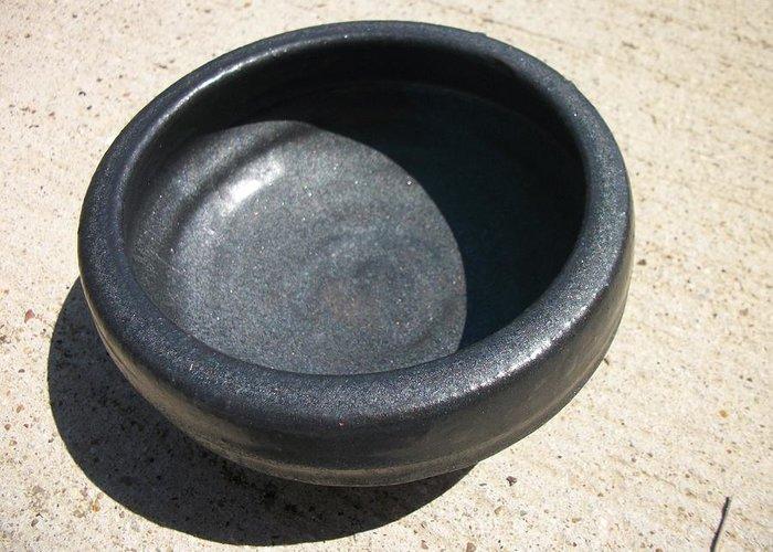 Bowl Greeting Card featuring the ceramic art Bowl On Wheel A by Leahblair Jackson