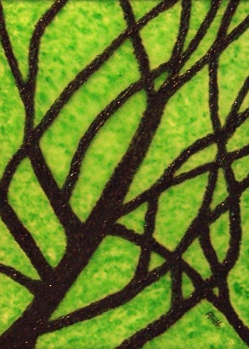 Corporate Art Greeting Card featuring the painting Branching Out by Anneliese Fritts