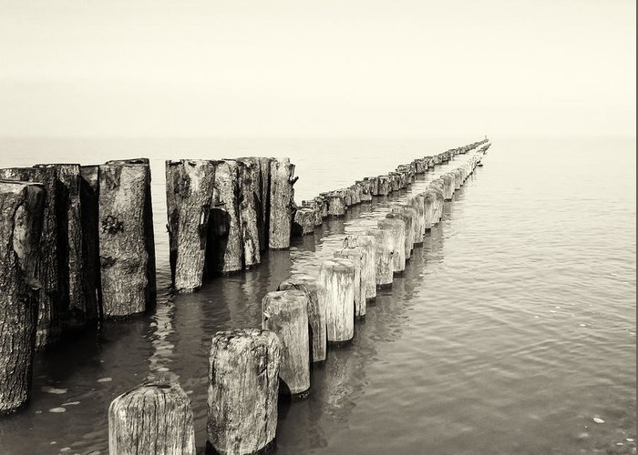 Breakwater Greeting Card featuring the photograph Breakwaters by Wim Lanclus