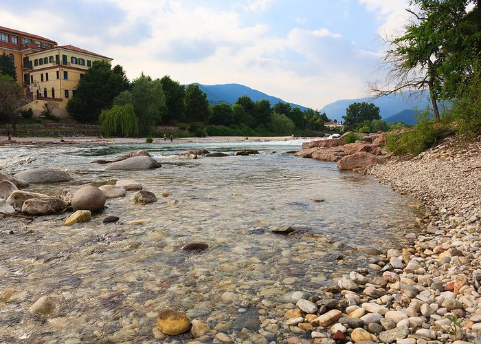 Bassano Del Grappa Greeting Card featuring the photograph Brenta River by Davide Guidolin