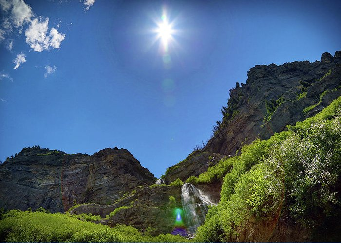 Waterfall Greeting Card featuring the photograph Bridal Veil Falls by Dan Pearce