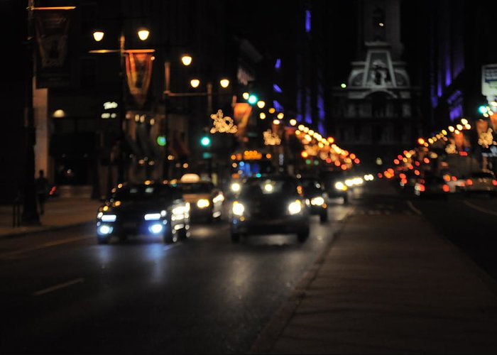 Broad Greeting Card featuring the photograph Broad Street by Brynn Ditsche