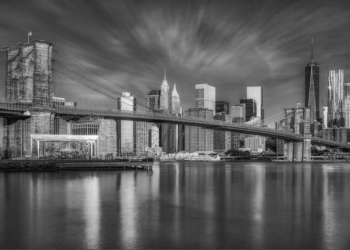 Brooklyn Bridge Greeting Card featuring the photograph Brooklyn Bridge From Dumbo by Susan Candelario