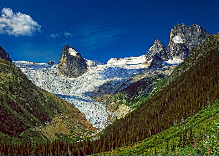 Mountains Greeting Card featuring the photograph Bugaboo Spires by Steve Harrington