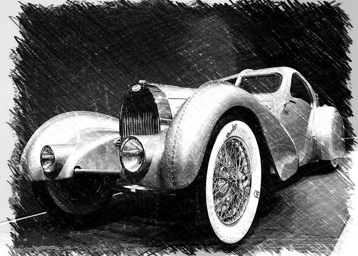 Bugatti Greeting Card featuring the photograph Bugatti Type 57 Aerolithe by Dick Goodman