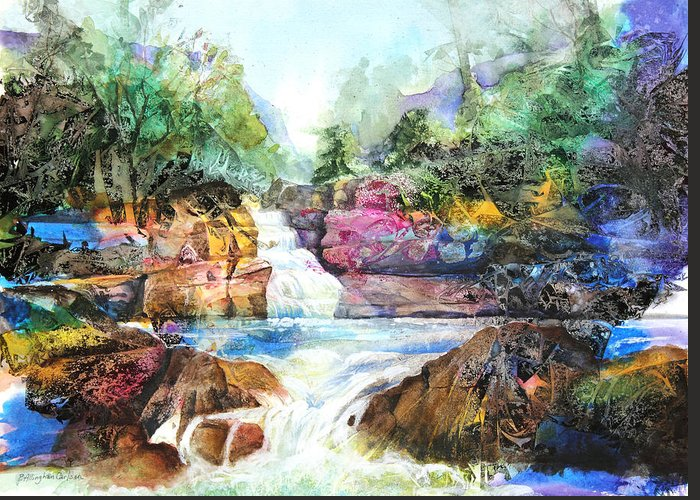 Art Greeting Card featuring the painting Buttermilk Falls IIi by Patricia Allingham Carlson