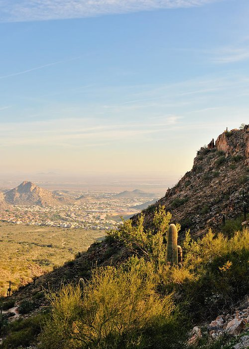 Arizona Greeting Card featuring the photograph Cactus Mountain by Tom Dowd
