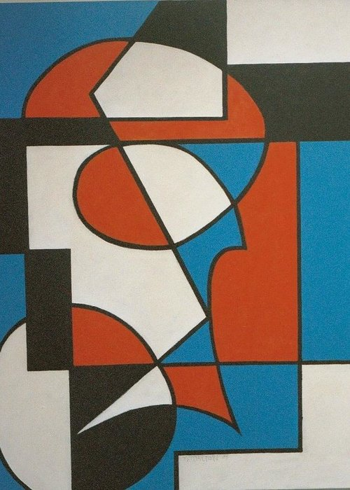 Abstract Greeting Card featuring the painting Calypso by Nicholas Martori