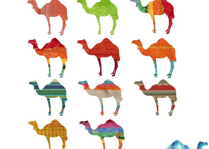 Camel Digital Art Greeting Cards