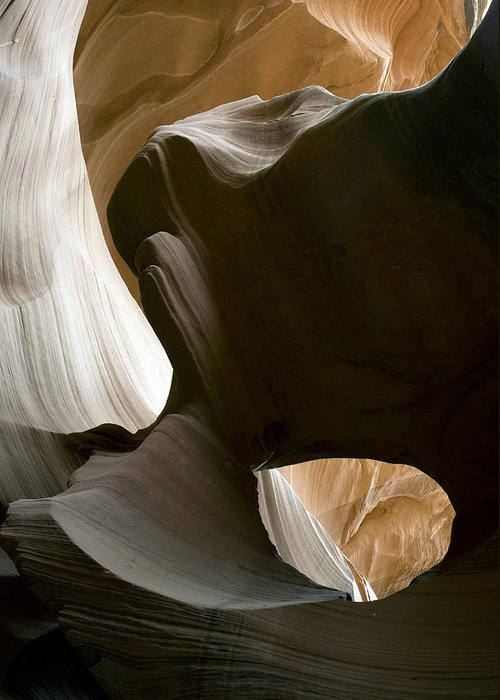 Abstract Greeting Card featuring the photograph Canyon Sandstone Abstract by Mike Irwin