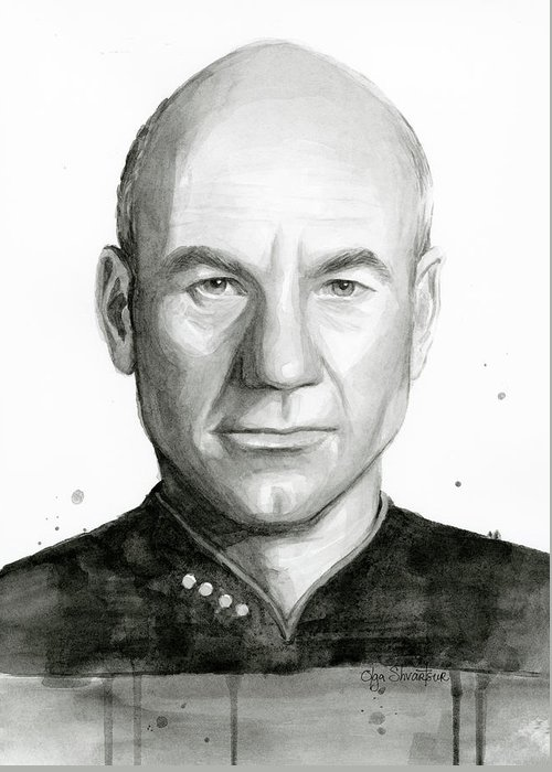 Jean Luc Picard Greeting Cards