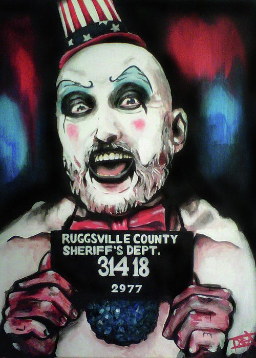 Captain Spaulding Greeting Card featuring the painting Captain Spaulding by Danielle LegacyArts