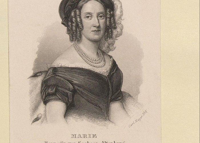 Carl Mayer (1798-1868) Marie Herzogin Von Sachsen-altenburg C.1848-60 Greeting Card featuring the digital art Carl Mayer by Mark Carlson