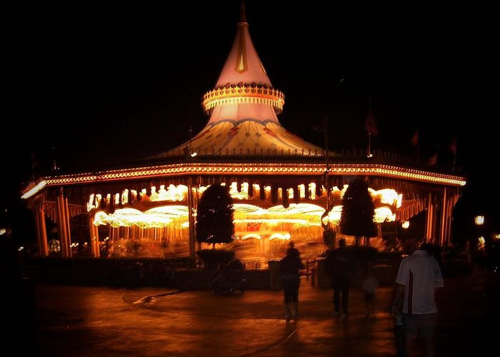 Carousel Greeting Card featuring the photograph Carousel by Lindsay Clark