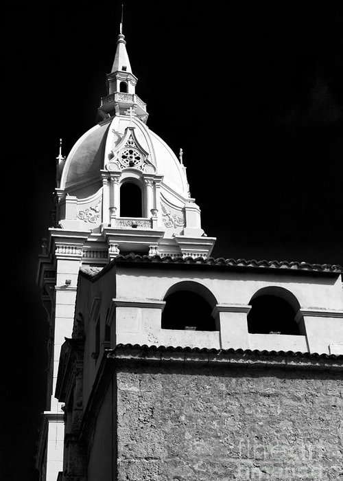 Cathedral In Cartagena Greeting Card featuring the photograph Cathedral In Cartagena by John Rizzuto