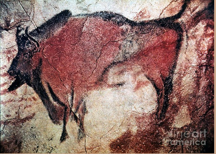 10000 Greeting Card featuring the photograph Cave Art by Granger
