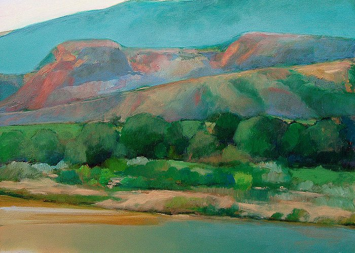 Chama River Greeting Card featuring the painting Chama River by Cap Pannell