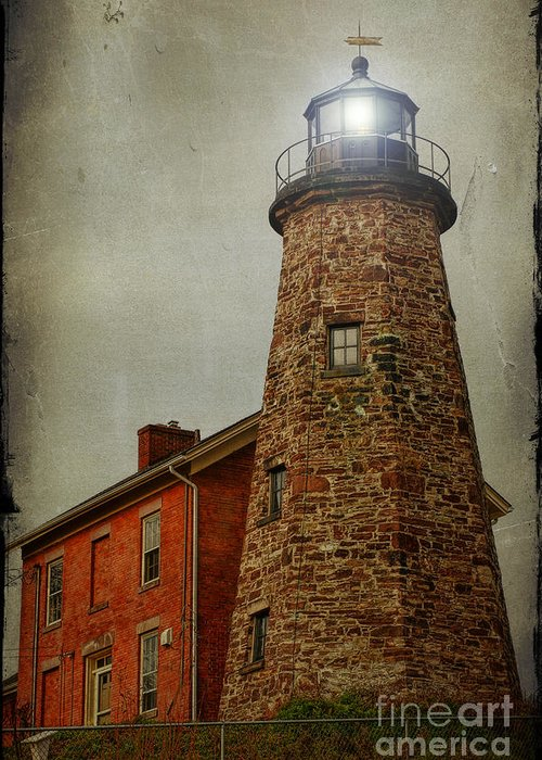 Lighthouse Greeting Card featuring the photograph Charlotte Genesee Lighthouse by Joel Witmeyer