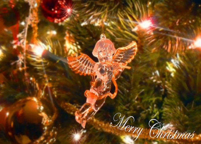 Angel Greeting Card featuring the photograph Christmas Angel by Anastasia Michaels