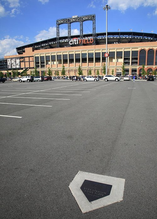 Arena Greeting Card featuring the photograph Citi Field - New York Mets by Frank Romeo