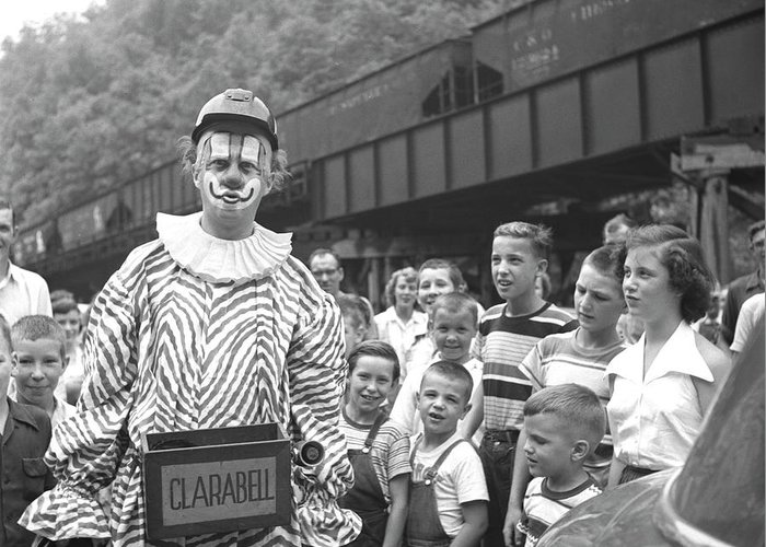 Clarabell The Clown, From The Howdy Doody Show, In West Virginia Greeting  Card