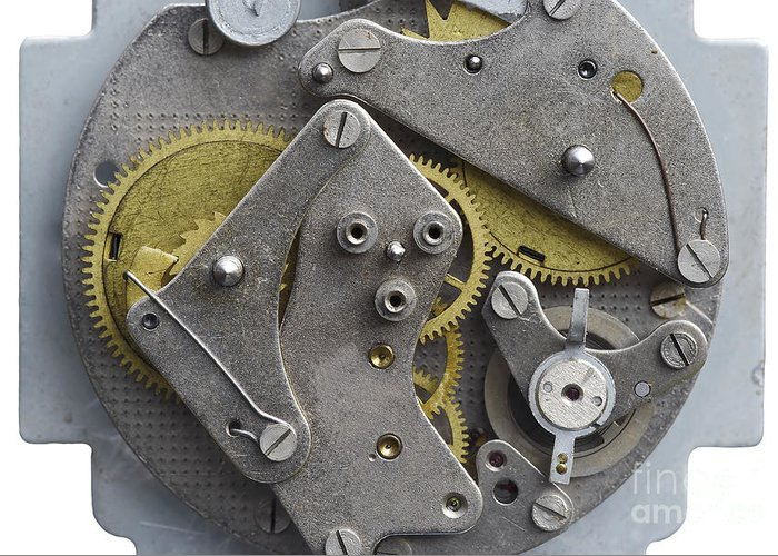 Clockwork Greeting Card featuring the photograph Clockwork Mechanism by Michal Boubin