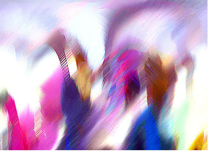 Digital Media Greeting Card featuring the painting Color Dance by Anil Nene