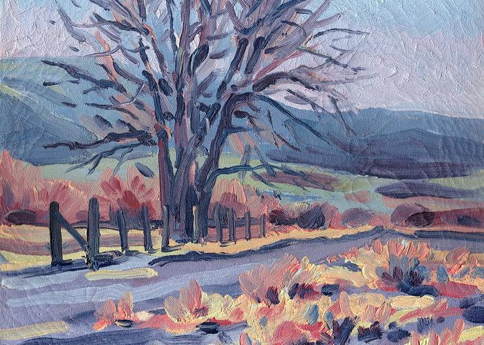 Road Greeting Card featuring the painting Country Road by Donald Maier