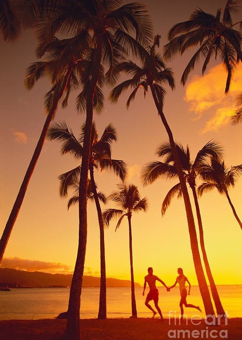 Affection Greeting Card featuring the photograph Couples Vacation by Dana Edmunds - Printscapes