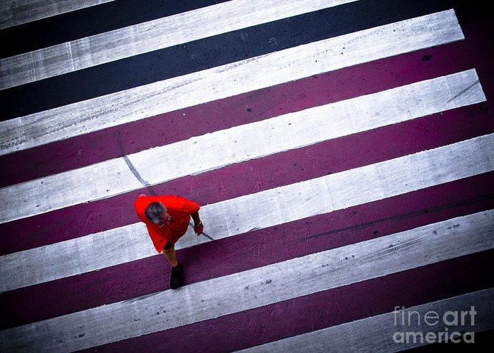 Man Greeting Card featuring the photograph Crossing by Supasit Srisawathsak