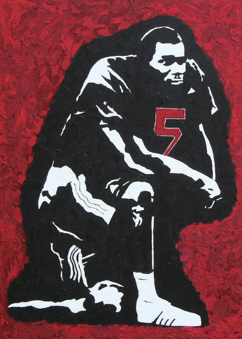 Darren Mcfadden Greeting Card featuring the painting D-mac by Amy Parker