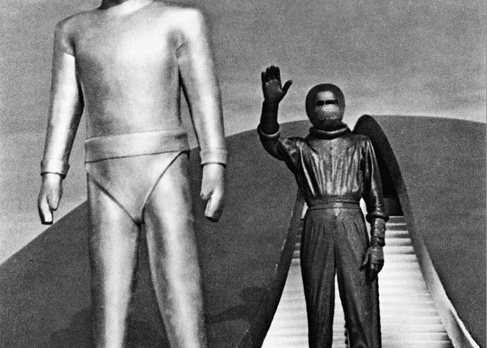 1952 Greeting Card featuring the photograph Day The Earth Stood Still by Granger