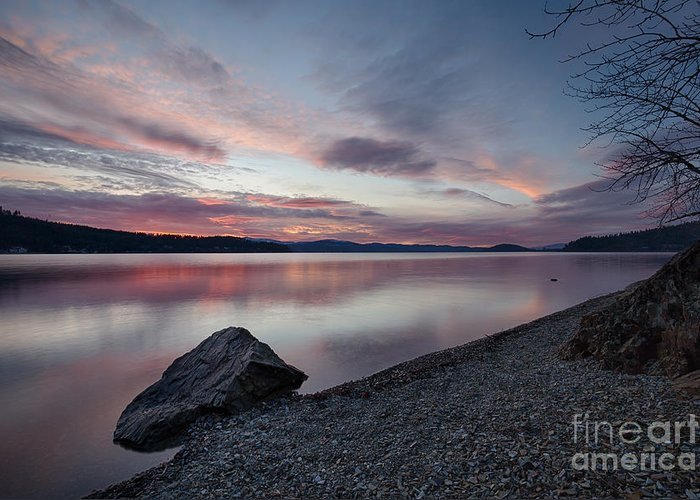 Cda Greeting Card featuring the photograph Days End by Idaho Scenic Images Linda Lantzy