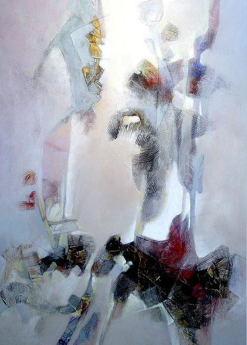 Abstract Greeting Card featuring the painting Dignity by Dale Witherow