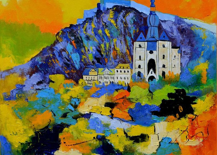 Landscape Greeting Card featuring the painting Dinant by Pol Ledent