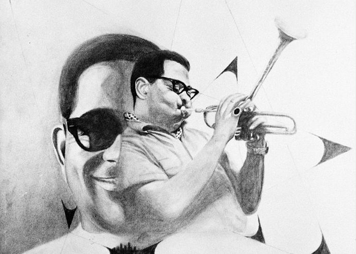 1969 Greeting Card featuring the photograph Dizzy Gillespie (1917-1993) by Granger