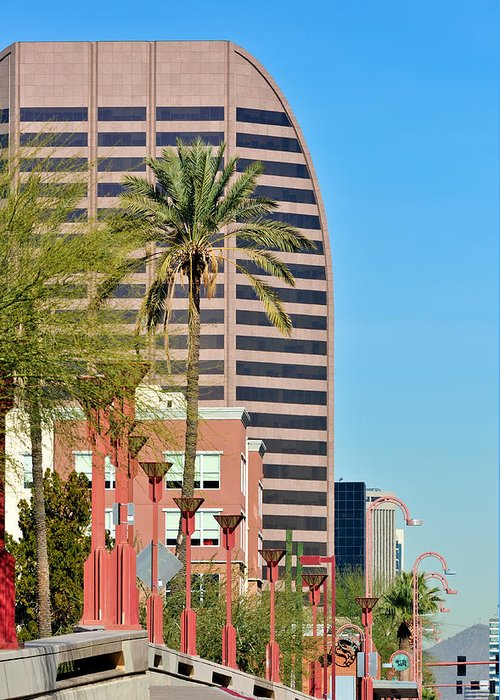 Downtown Greeting Card featuring the photograph Downtown Phoenix 1 by Tom Dowd