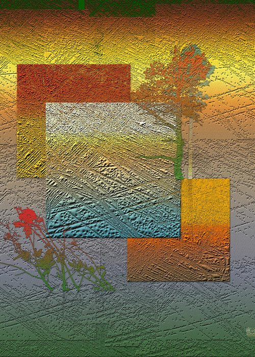 Abstract Landscape Greeting Cards