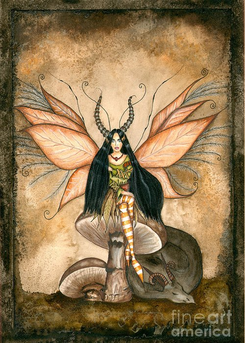Faery Greeting Card featuring the painting Earth Faery by Alysa Fioretzi