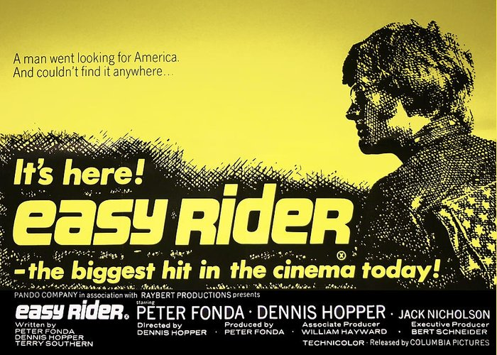 Easy Rider Movie Lobby Poster 1969 Greeting Card for Sale by ...