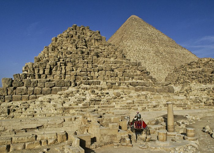 Egypt Greeting Card featuring the photograph Egypt's Pyramids Of Giza by Michele Burgess