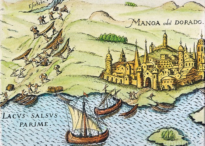 1599 Greeting Card featuring the photograph El Dorado, 1599 by Granger