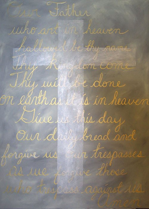 God Greeting Card featuring the painting Father Forgive Us by Donielle Boal